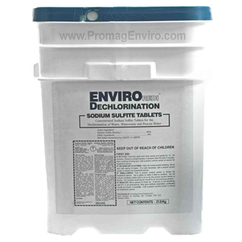 EnviroREDI Dechlorination Tablets, Sodium Sulfite Dechlor, 48lb, 92%