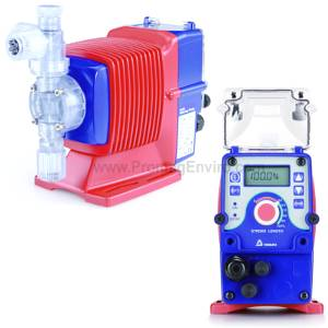 A Walchem chemical metering pump for injecting disinfectant